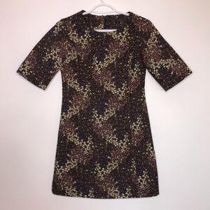 Trafaluc by Zara Brown Floral Casual Mini Dress